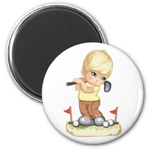 Imán Golfing del muchacho