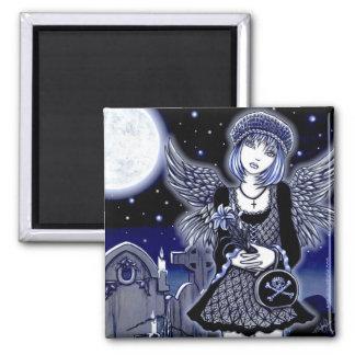 """Imán gótico azul del arte del ángel de """"Tabitha"""""""