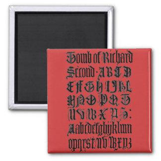 Imán gótico de las letras