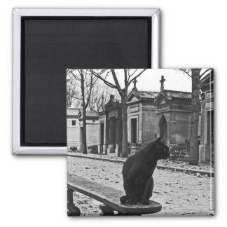 Imán gótico del cementerio del gato negro