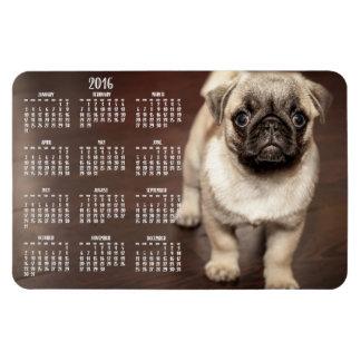 Imán grande 2016 de la foto del calendario del