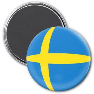 Imán grande de 3 pulgadas - bandera del sueco de S