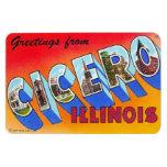 Imán grande de la postal de la letra de Cicero Ill