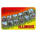 Imán grande de la postal de la letra de Illinois I