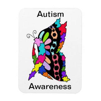 Imán grande de la sola del autismo mariposa de la