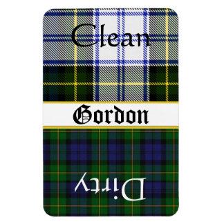 Imán grande del lavaplatos de la tela escocesa de