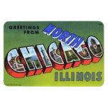 Imán grande del norte de la letra de Chicago Illin