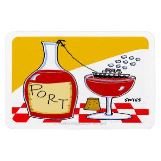 Imán grande del vino de Oporto divertido