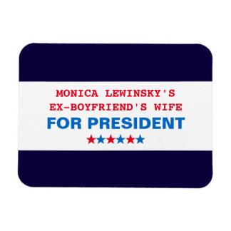 Imán grande divertido de Hillary Clinton Monica