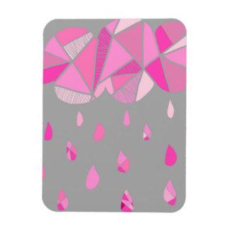 Imán grande fracturado de la nube rosada