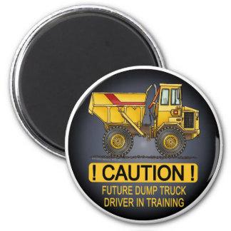 Imán grande futuro del conductor de camión volquet