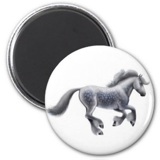 Imán gris Dappled del caballo