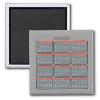 Imán gris del calendario de 2011 impresiones