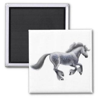 Imán gris galopante del caballo