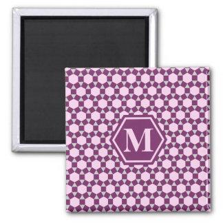 Imán gris y rosado púrpura oscuro de STH