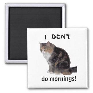 Imán gruñón de la mañana del gatito
