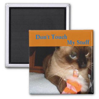 Imán gruñón del refrigerador del gato siamés