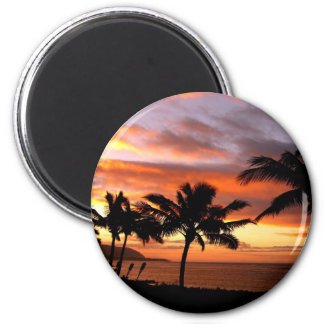 Imán hawaiano de la puesta del sol