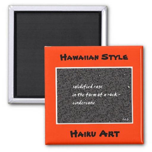 Imán hawaiano del arte del Haiku del estilo de Cin