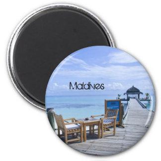 Imán hermoso de la playa de Maldivas
