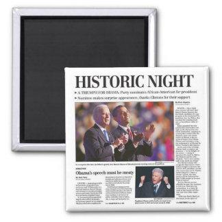 Imán histórico de la noche de Obama