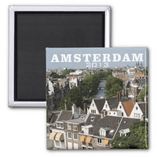 Imán holandés del refrigerador del viaje de Amster