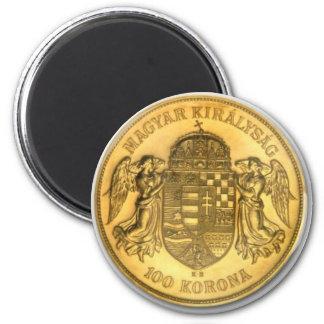 Imán húngaro del diseño de la moneda de Korona del