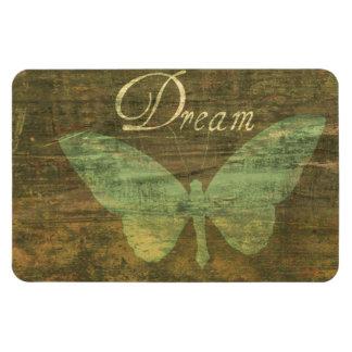 Imán ideal de bronce de la mariposa