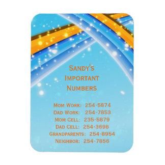 Imán importante de los números de teléfono del azu