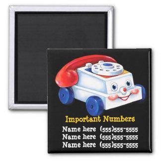 Imán IMPORTANTE del número de teléfono