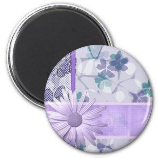 Imán impreso flor púrpura