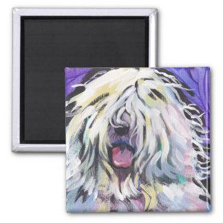 Imán inglés viejo del arte pop del perro pastor