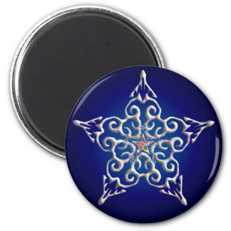 Imán iridiscente azul de la estrella