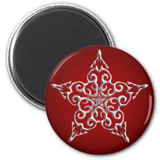 Imán iridiscente rojo de la estrella