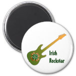Imán irlandés de la estrella del rock