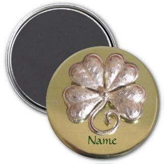 ¡Imán irlandés del apellido del St. Patricks! Oro Imán Redondo 7 Cm