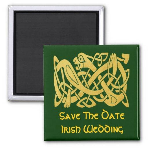 Imán irlandés del boda de la serpiente de oro