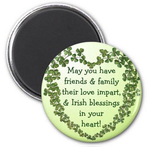Imán irlandés del corazón de la bendición