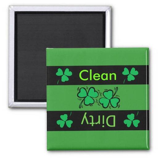 Imán irlandés del lavaplatos del trébol