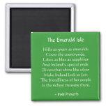 Imán irlandés del proverbio de Emerald Isle