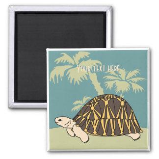 Imán irradiado personalizable 4 de la tortuga
