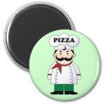 Imán italiano del cocinero de la pizza