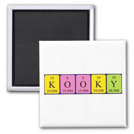 Imán Kooky del nombre de la tabla periódica