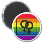 imán lesbiano del arco iris