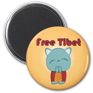 Imán libre del gatito de Kawaii Tíbet