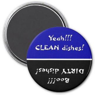 Imán limpio o sucio de los platos