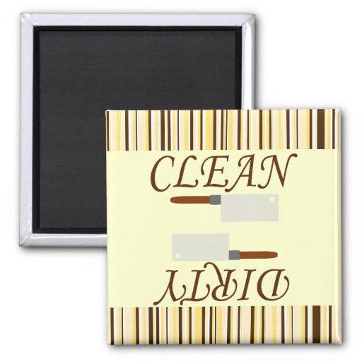 Imán limpio o sucio del lavaplatos de la cocina