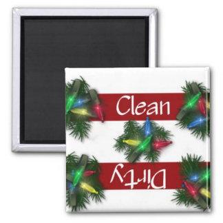 Imán limpio o sucio del lavaplatos de las luces de