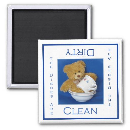 Imán limpio o sucio del oso de peluche del lavapla