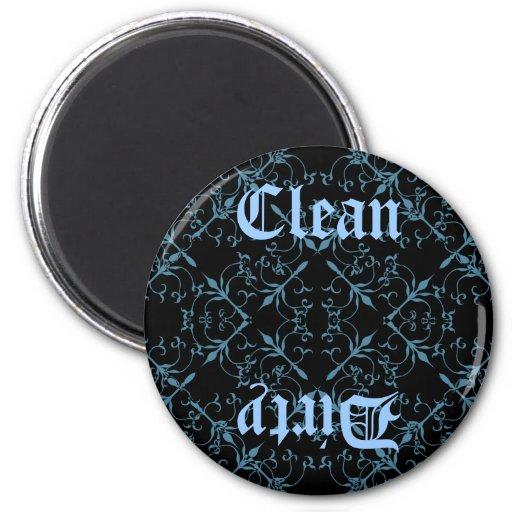 Imán limpio o sucio gótico de lujo del diswasher